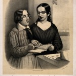 V0015876 Portrait of Oliver Caswell and Laura Bridgman reading emboss