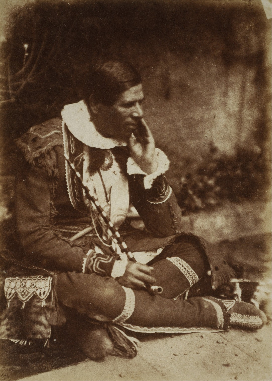 Portrait of Kahkewaquonaby (Reverend Peter Jones) by David Octavius Hill and Robert Adamson, 1845, Library and Archives Canada PA-215156